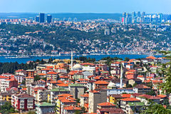Istanbul from the bird`s-eye view Royalty Free Stock Photos