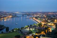 Istanbul bis zum Nacht stockfoto