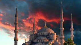 Istanbul blå moské - tidschackningsperiod lager videofilmer