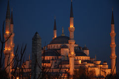 Istanbul blue mosque. Sultanahmet mosque in Istanbul, Turkey at night Stock Photos