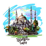 Istanbul blue mosque Royalty Free Stock Image
