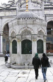 Istanbul - Blue Mosque entrance. The mosque is also one of the most noticeable landmarks in Istanbul. Istanbul's Blue Mosque was built partly as an effort to Royalty Free Stock Photo