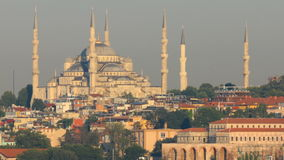 Istanbul Blue Mosque. Famous Blue Mosque at sunset in Istanbul, Turkey stock footage