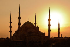Istanbul. Blue Mosque at sunset Stock Photos