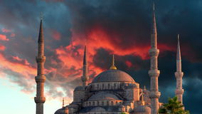 Istanbul, Blue mosque - time lapse stock video footage