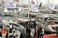 Istanbul Boat Show Stock Photo