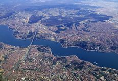 Istanbul and Bosphorus Royalty Free Stock Images