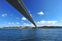 Istanbul Bosphorus Bridge. Photo of The Bosphorus Bridge of Istanbul,Turkey Royalty Free Stock Images