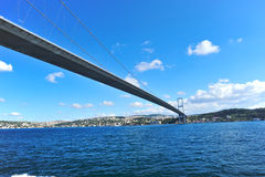 Istanbul Bosphorus Bridge. Photo of The Bosphorus Bridge of Istanbul,Turkey Royalty Free Stock Photography