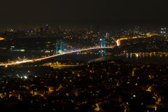 Istanbul Bosphorus Bridge from Camlica Hill Royalty Free Stock Photo