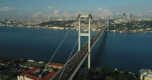 Istanbul Bosphorus Bridge Eurasia Marathon Aerial View 20