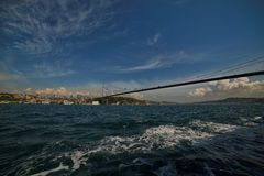 Istanbul Bosphorus Bridge. Photo of The Bosphorus Bridge of Istanbul. It unites two different continents, Asia and Europe Stock Photos