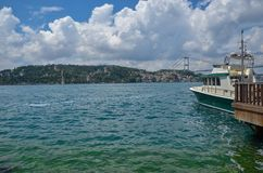 Istanbul Bosphorus Bridge. Istanbul in Turkey stock photo