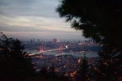 Istanbul bosphorus bridge royalty free stock photos