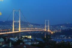 Istanbul Bosphorus bro Royaltyfri Foto