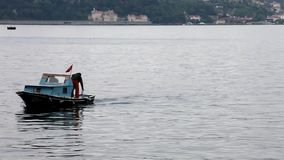Istanbul Bosphorus 25 June 2010 - Fishermen at Bosphorus. General plan stock video