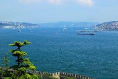 Istanbul - Bosphorus kanal Royaltyfria Foton