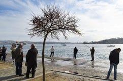 Istanbul Bosphorus, Karakoy quay Royalty Free Stock Photos