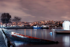 İstanbul bosphorus night photo Royalty Free Stock Photo
