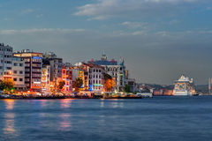 Istanbul and Bosphorus at night Stock Photos