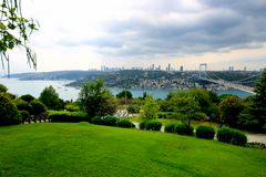 Istanbul Bosphorus. Otagtepe Marquee Hill located on the asian side of Istanbul. Bosphorus view Stock Photography