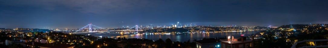 Istanbul Bosphorus panorama Fotografering för Bildbyråer
