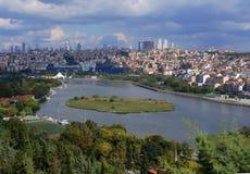 Istanbul Bosphorus panoramic view. Istanbul, Turkey. royalty free stock photos