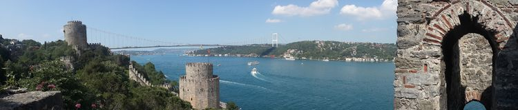 Istanbul Bosphorus - Rumelihisarı royalty free stock photography