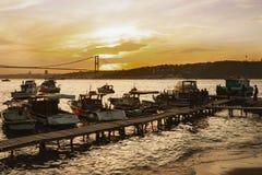 Istanbul Bosphorus Sunset Coast Royalty Free Stock Photos
