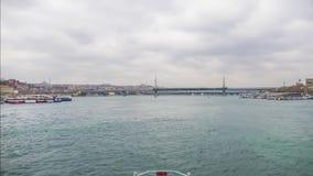 Istanbul Bosphorus. Timelapse. Sea traffic in Bosphorus. Turkey stock video footage