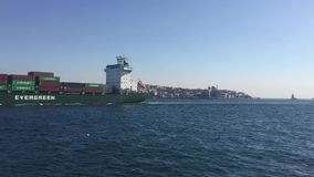 Istanbul bosphorus trip by ferry boat stock video