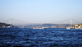 Istanbul Bosphorus. A view of Istanbul Bosphorus from Üsküdar Royalty Free Stock Photography