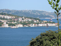 Istanbul Bosphorus. View of the European part Royalty Free Stock Photo