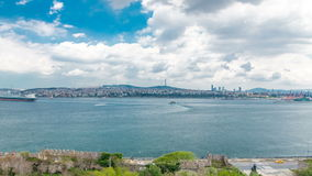 Istanbul and Bosphorus view from the Topkapi Palace timelapse. View of downtown. Travel Turkey stock video