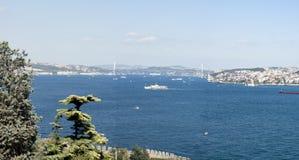 Istanbul Bosphorusen Arkivfoto