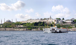 Istanbul from Bosporus royalty free stock photos