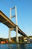 Istanbul Bosporus bridge. Against blue sky Royalty Free Stock Image