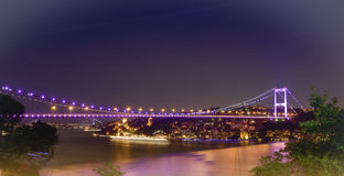 Istanbul Bosporus Bridges at night. Different view Stock Photography