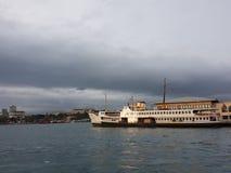 Istanbul Bosporus ferry in kadikoy royalty free stock photos