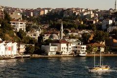 Istanbul from the Bosporus Strait Royalty Free Stock Photos