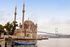 Mosque, Istanbul on the Bosporus, Turkey Stock Images