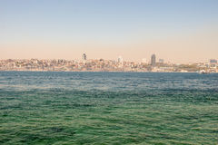 Istanbul Bosporus with two continents Stock Image