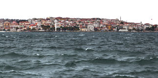 Istanbul on the Bosporus in Winter Royalty Free Stock Photos