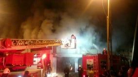 Istanbul brandmän i handling lager videofilmer