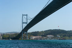 Istanbul bridge. Bridge asia europe istanbul turkey Royalty Free Stock Photos
