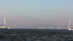 Istanbul bridge/View/peak/ sea /sky /nature/istanbul /people/december 2015. Crowd /People/ time lapse/december 2015 / istanbul HD 1080 stock video