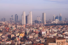 Istanbul. Building view from the city wall Stock Photos