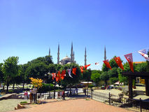 Istanbul buildings sultan ahmed mosque Stock Photography