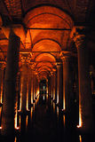 Istanbul, Byzantine cistern. Istanbul, old Byzantine cistern for drinking water under the ground Stock Images