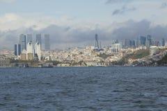 Istanbul, côte de ville, horizon Photographie stock libre de droits